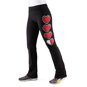Think I just found a present for my lady!  ThinkGeek :: Health Bar Yoga Pants