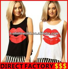 Wholesale Women's Large Lip Printing Ameriacn Apparel made in Xiangshan Factory  best seller follow this link http://shopingayo.space