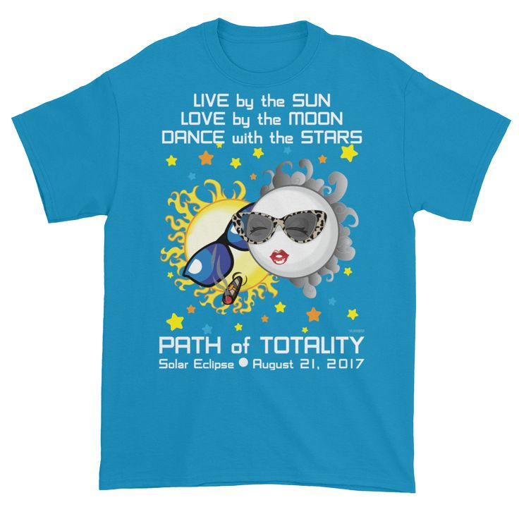 Men's Solar Eclipse Short Sleeve T-Shirt - Bonnie & Clyde - Live Love Dance Path of Totality August 21, 2017