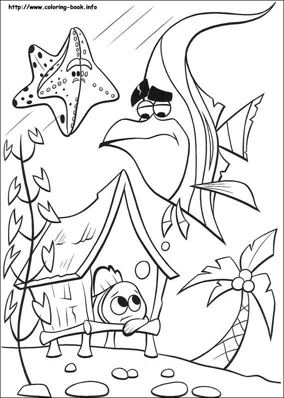 finding nemo disney coloring page