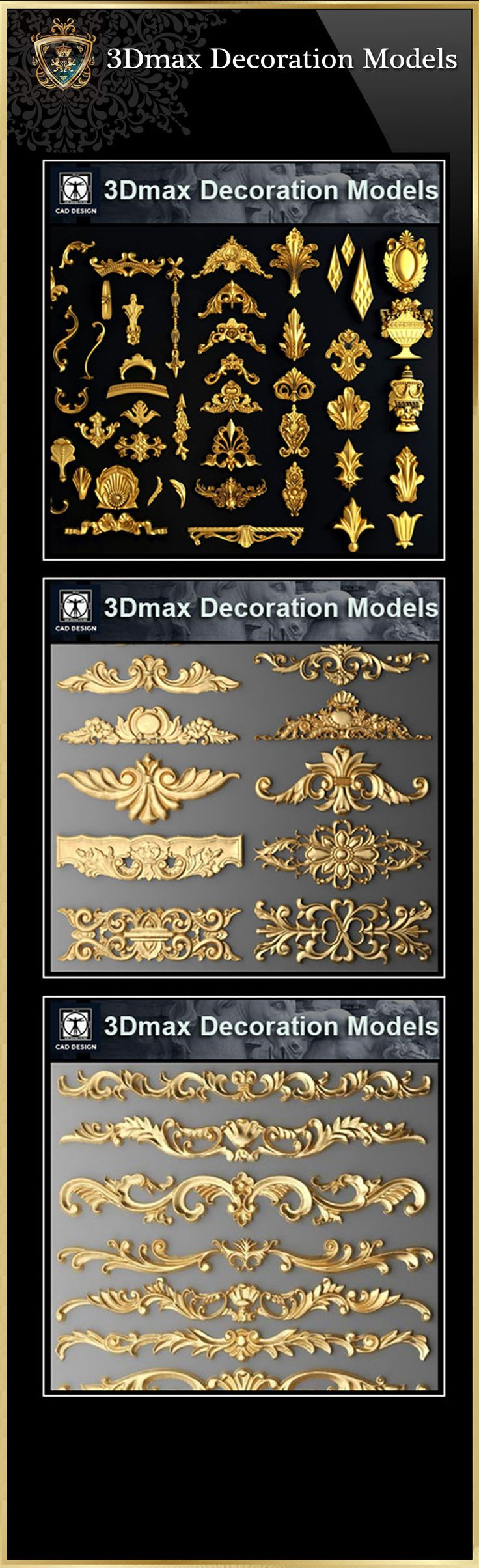 【All 3D Max Decoration Models Bundle】(Best Recommanded!!) – CAD Design | Free CAD Blocks,Drawings,Details