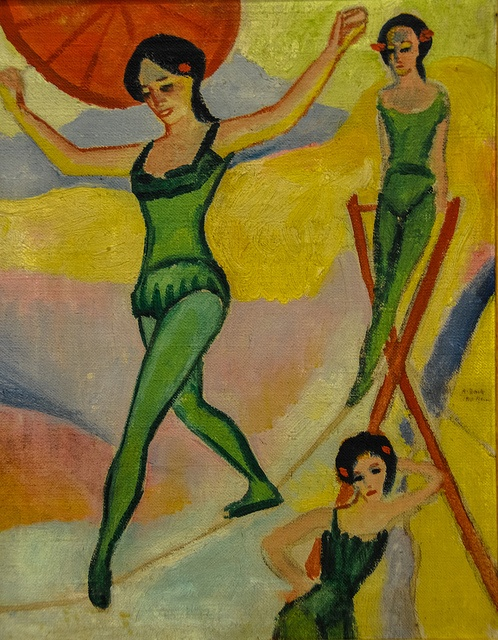 August Macke - Tight-rope Walkers, 1910 at Kunstmuseum Bonn Germany | Flickr - Photo Sharing!