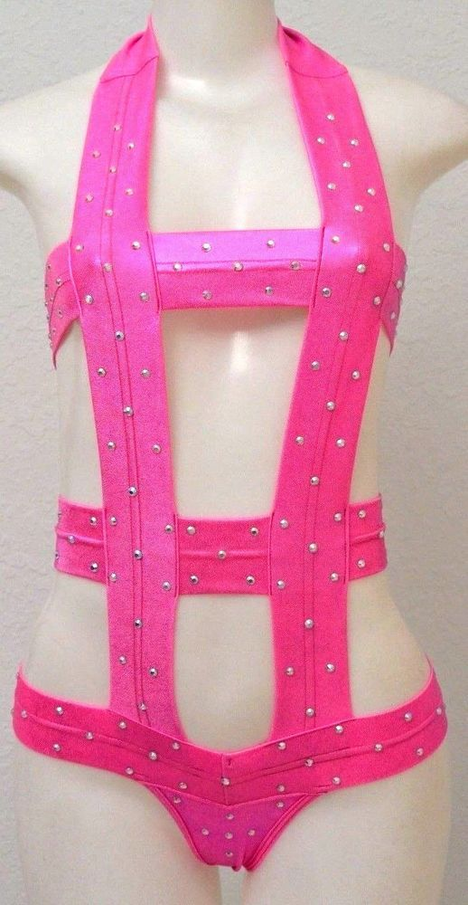 Sexy exotic stripper pole dancewear Women one pc set w/Rhinestones Foil Spray   Clothing, Shoes & Accessories, Dancewear, Adult Dancewear   eBay!
