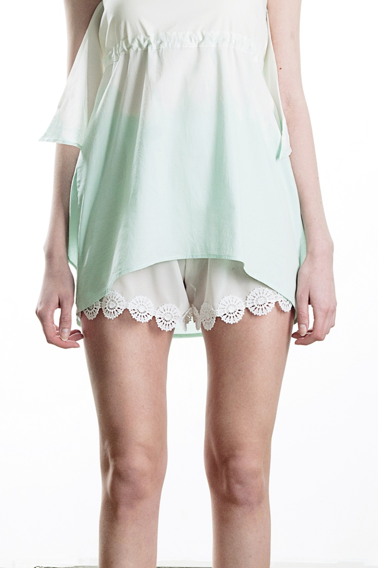 chiffon and lace shorts, spring / summer 2013  29€