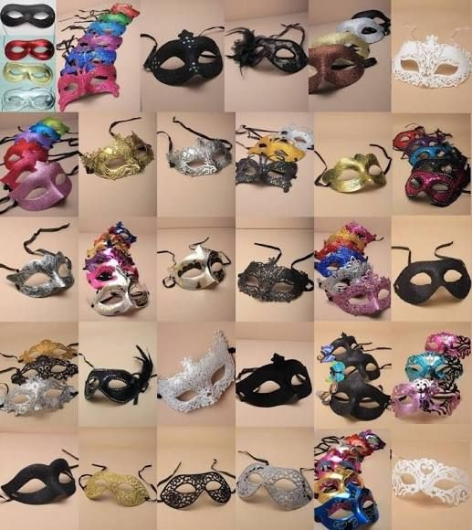 Masquerade Masks, Party Ball Fancy Dress Hen Stag Theatre, Lot, 6