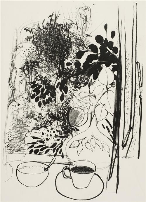 Brett Whiteley - View of the Garden http://www.evabreuerartdealer.com.au/artists/brett-whiteley/brett-whiteley-1939-1992/view-on-the-garden