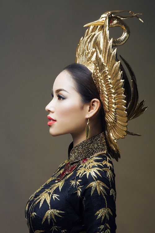 Look how beautiful Miss Vietnam is omg. Fire bender Vietnamese queen.