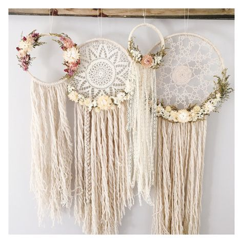 The Willow Dreamcatcher // doily dreamcatcher // by MeadowandMoss