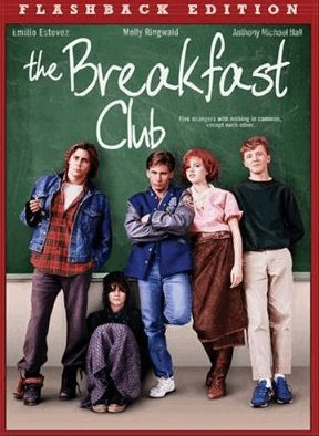The Breakfast Club...One of my faves. Actually watched it with my son and daughter and they loved it too. : )