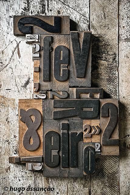 Wood Type Poster /hugo assunco