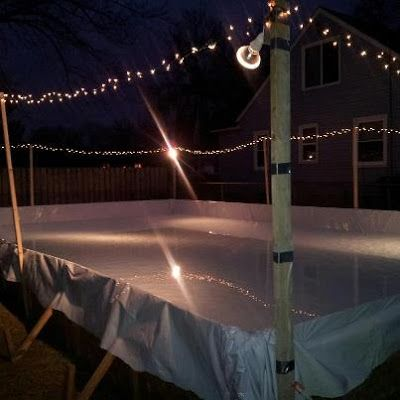 How cool would this be? Backyard ice rink