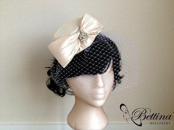 Vintage Bride ~ Chic Vintage Inspired Bridal Hats - Bettina Millinery ~ [vintagebridemag.com.au]