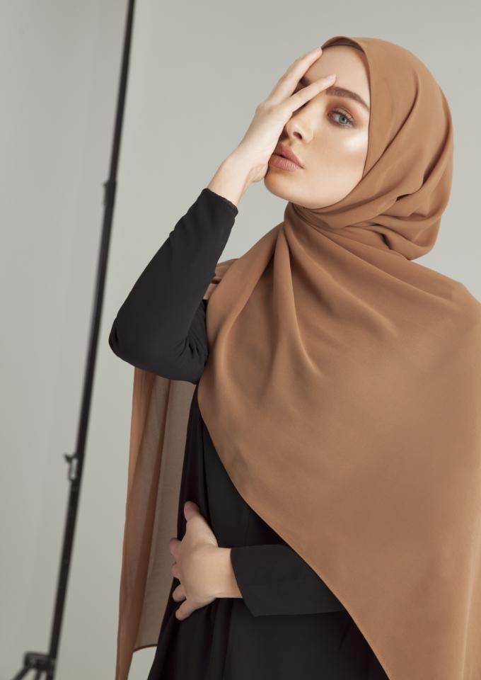 Simple hijab scarf outfit