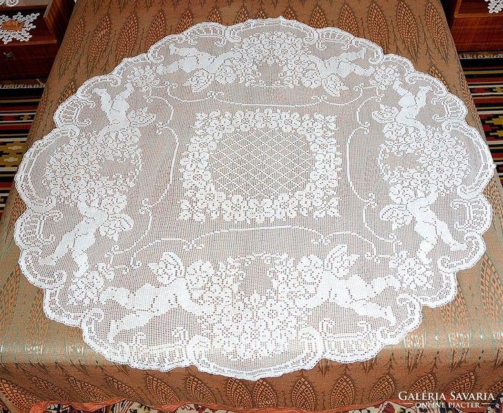 Hatalmas barokk horgolt asztalterítő