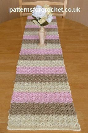 Free pattern for neapolitan table runner http://www.patternsforcrochet.co.uk/neapolitan-table-runner-usa.html #patternsforcrochet
