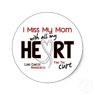 I miss my mom with all my heart. Lung Cancer awareness.