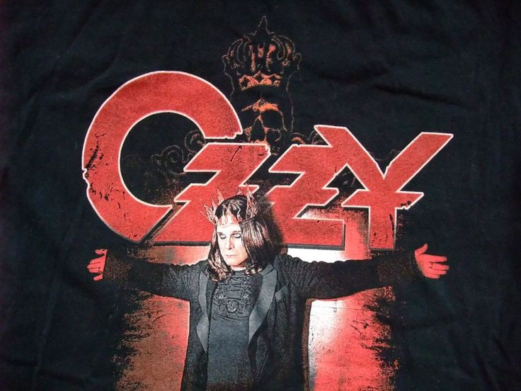 Ozzy Osbourne Black Rain 2007 World tour concert tour t-shirt Medium  #Gildan #GraphicTee