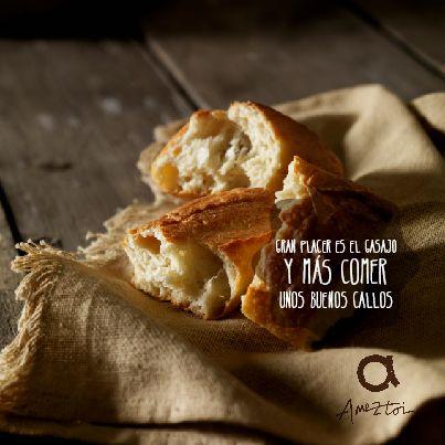 Gran placer es el gasajo y más comer unos buenos callos. #RefranesAmeztoi #comidacasera #refranes