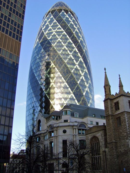 the gherkin or the big pickle an iconic new building that provides