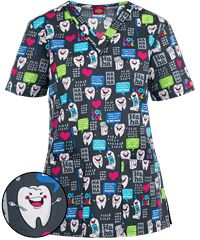 Dickies EDS Have a Laugh Print Scrub Top