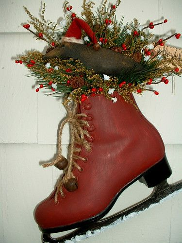 115 best images about ice skate decor on pinterest ice for Glace decoration