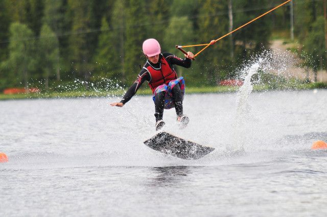 The world's northernmost Cable Wakeboard Centre in Ukkohalla.