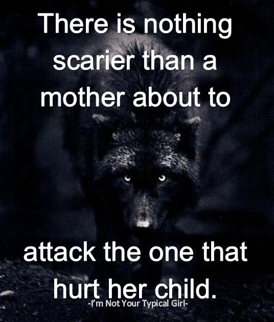 """""""There is nothing scarier than a mother about to attach the one that hurt her child."""" -From our other FB page for """"I'm Not Your Typical Girl"""""""