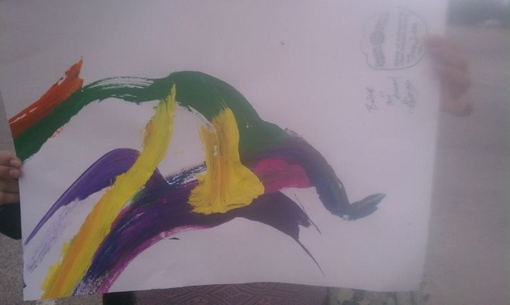 Picture of an elephant, painted by an elephant. In other news, elephants are freaking talented.