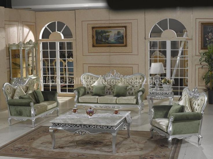 Luxary silver living room furniture luxury new classic living room