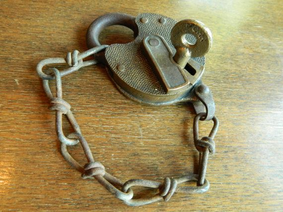 Antique Yale Lock and Key Large Vintage by PeoriaArchSalvage