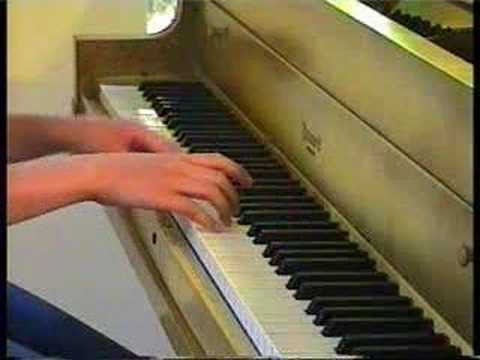 Young beginner plays March of Sergey Prokofiev