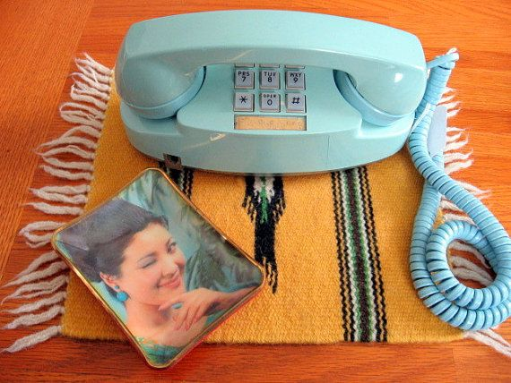 Light blue princess telephone