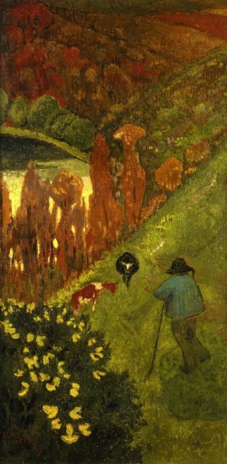 Paul Serusier -  Shepherd in the Valley of Chateauneuf (1917)