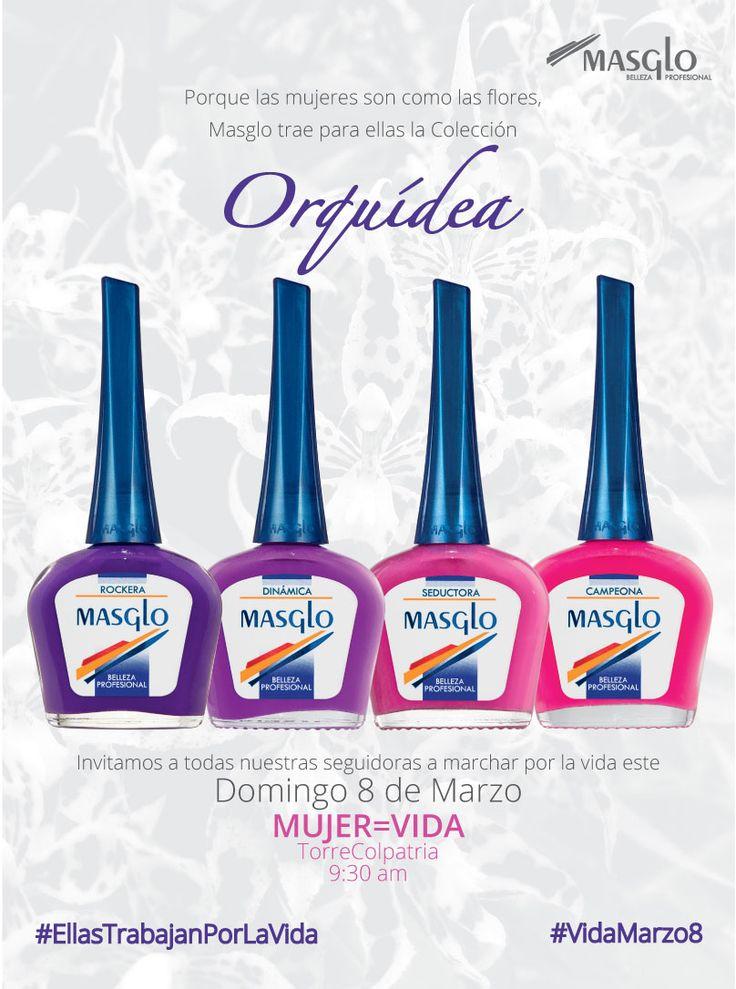 Colección Orquidea #SoyMasglo #Masglo #MasgloLOVERS #ColeccionOrquidea #NailPolish