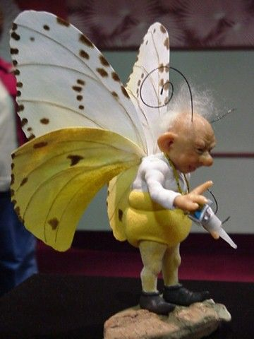 Annie Wahl Dolls Fairy gentleman with white and yellow wings | fairiehollow.com