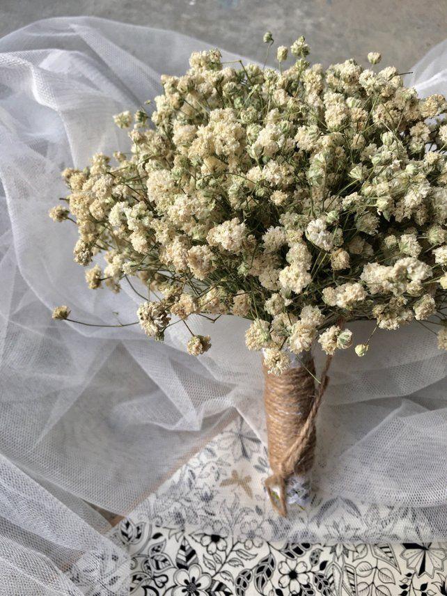 Dry Baby S Breath Bouquet Flower Bouquet Silk Flower Etsy Bridesmaid Flower Bouquet Flower Bouquet Wedding Babys Breath Bouquet