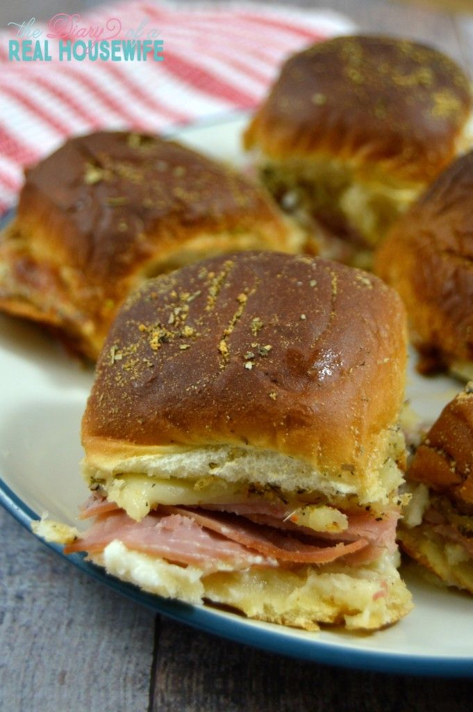 Ham and Cheese Slider. So EASY to make!