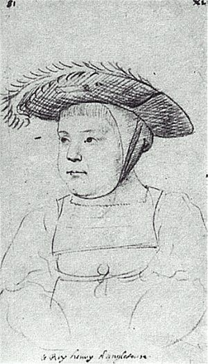 Sketch of Henry VIII as a child