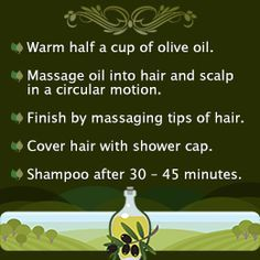 DIY olive oil hair treatment