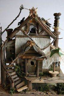Fairy architecture from HAUTE NATURE - fairy houses and fairy furniture - #DIY #crafts #fairy #house #furniture #garden tå√