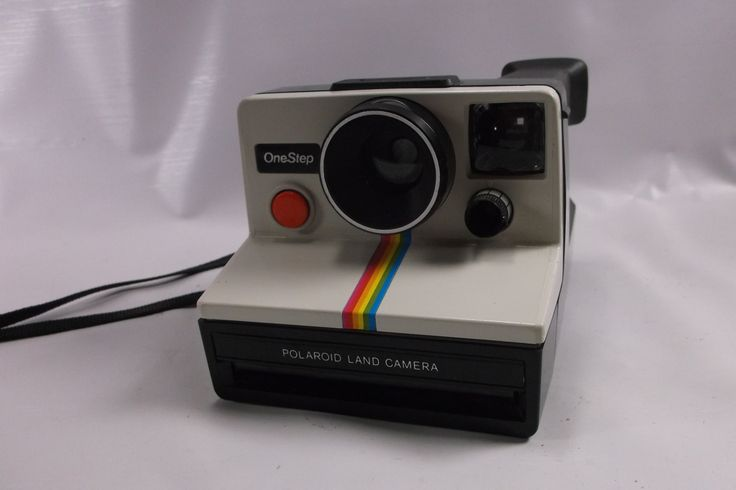 Vintage Polaroid One Step Land Camera SX-70 White Rainbow Stripe Clean & Nice.Not Tested epsteam