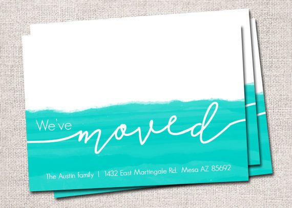 New Address card, We've moved card, Modern New Address card, Printable New Address card, New Home card (Home Sweet Home)
