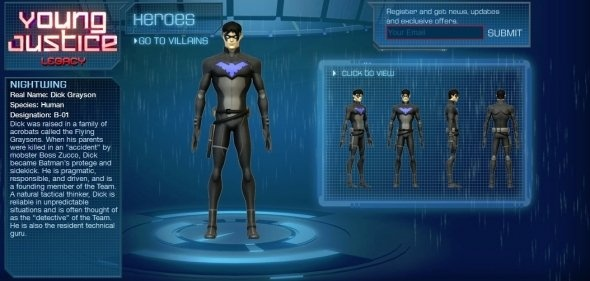 Nightwing from the Young Justice Legacy video game