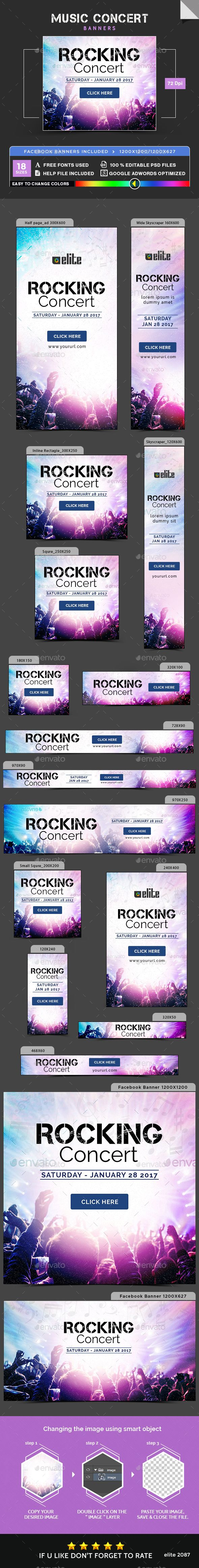 Music Concert Banners - Banners & Ads Web Elements Download here : https://graphicriver.net/item/music-concert-banners/19279235?s_rank=66&ref=Al-fatih