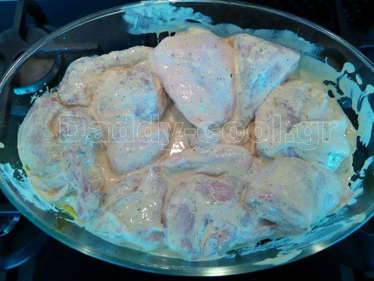 κοτόπουλο+με+φανταστικη+μαρινάδα+δυο+υλικών+και+ριζότο+λαχανικών
