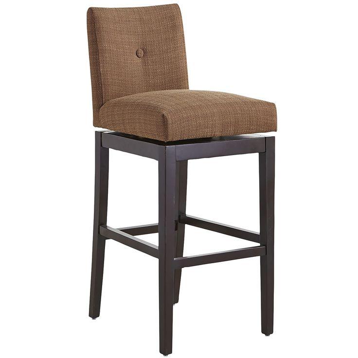 Mattie Low Back Swivel Bar Stool Mocha Chairs Gt Table