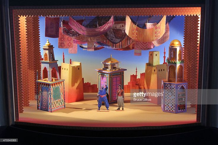 Set Design at the 'Aladdin' Broadway cast and creative team press preview at Mandarin Oriental Hotel on February 18, 2014 in New York City.