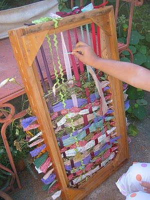 Wood frame loom - I would love to make one of these for the yard!