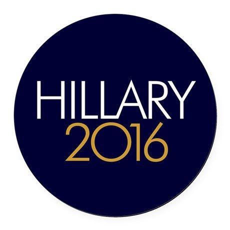 Hillary 2016 Round Car Magnet on CafePress.com
