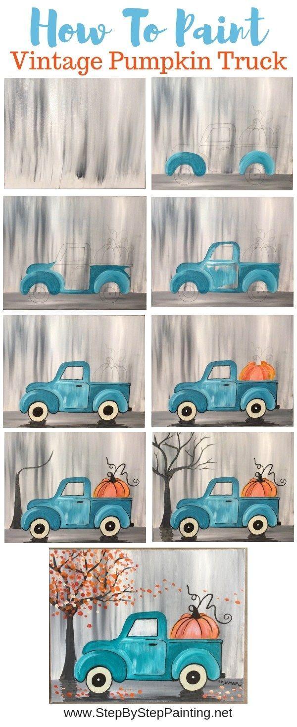 Comment peindre un camion citrouille vintage  #camion #citrouille #comment #peindre #vintage